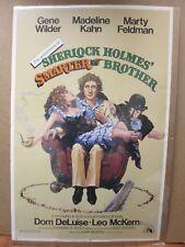 Vintage Poster Movie Sherlock Holme's smarter brother Gene Wilder 1975 Inv#714