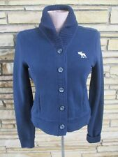 Abercrombie & Fitch Button Down Knit Sweater Jacket Women's SZ S  XS Navy Blue