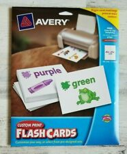 Avery Custom Print Flash Cards, 4.25 x 5.5 Inches,for Inkjet and Laser Printers