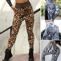 Women High Waist Yoga Pants Print Fitness Leggings Sports Gym Workout Trousers