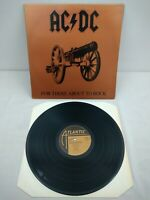 AC/DC - For Those About To Rock UK 1981 Atlantic 1st Press LP Embossed Cover