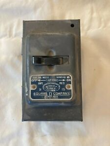 Antique Square D 30 amp 125 volt disconnect steampunk