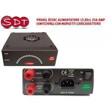 PROXEL 825BC ALIMENTATORE 13,8Vcc 20A AMP (SWITCHING) CON MORSETTI CARICABATTERI