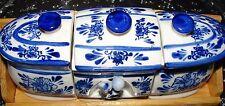 Casa Moda 3 PCS Ceramic serving set with wood case