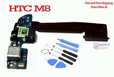 HTC One M8 831C Headphone Audio Jack Charging Micro USB Port Flex Cable + Tools