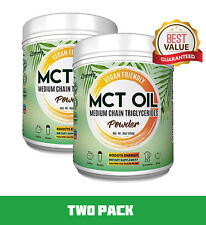 Premium MCT Oil Powder (16oz) - Vegan Friendly, GMO-Free, Kosher Certified