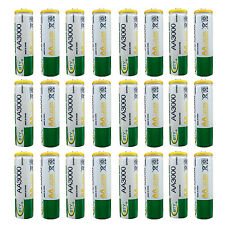 24 pcs AA 3000mAh Ni-MH 1.2V Rechargeable Battery Cell MP3 RC BTY Green US Stock