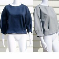 Banana Republic 3/4 Sleeve Top in Grey, Blue Size 0, 00 ,2