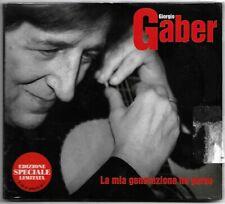 2CD GIORGIO GABER La mia generazione ha perso (Cgd 2001) ed. limitata SIGILLATO!
