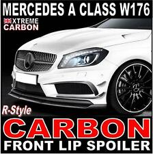 Mercedes A Class W176 AMG Carbon Front lip Spoiler Splitter R-style A45 AMG