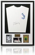 Peter Lorimer Hand Signed Leeds United 1972 Framed Shirt AFTAL Photo Proof COA