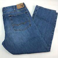 American Eagle Denim Jeans Mens 40X30 Blue Straight Leg Medium Wash 5 Pockets