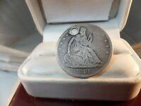 1861-S Seated Liberty Half Dollar  HOLED # C 1479