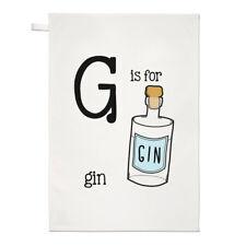 Brief G Ist Für Gin Geschirrtuch Spüllappen - Lustig Tonic Alphabet