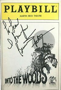 BERNADETTE PETERS SIGNED SONDHEIM INTO THE WOODS PLAYBILL 1988