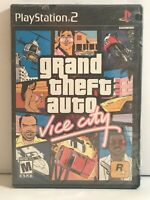 NEW Grand Theft Auto Vice City Sony Playstation 2 GTA 1980s Sealing with tears