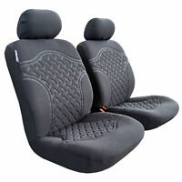 For Toyota Hilux SR SR5 Dual Cab 2009-2019 Suede Seat Covers Front Airbag Safe