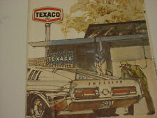 VINTAGE 1972 Texaco Oil Gas Ohio State Highway Road Map.With a shelby on front 1