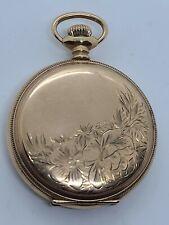 Antique 1902 ELGIN Ladies Gold Filled G.F. Victorian Full Hunter Pocket Watch 6s