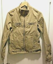 Fishbone Women's Khaki Long Sleeve Zipper Front Up jacket Size Medium