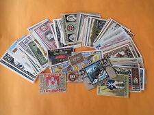 Lot / Konvolut 210 Original alte Notgeld-Scheine Stadtgeld
