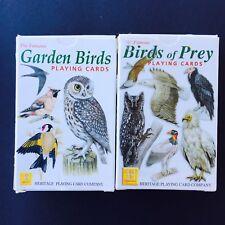 Birds of Prey and Garden Birds Heritage Playing Cards Set Display