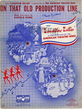 On That Old Production Line, Lunchtime Follies, American Theatre Wing 1943  RARE