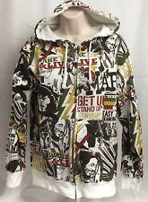 Bob Marley Women's Size Small Zip Front  Hoodie Sweatshirt Zion Rootswear