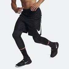 Nike Men's Sz Large Standard Fit HBR Basketball Shorts 910704-010 Black