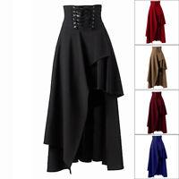 Women Steampunk Vintage Gothic Skirt Punk Rock Party Lolita Gypsy High Waist