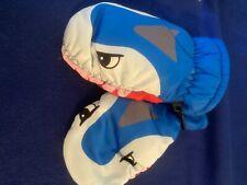 New listing Kids Waterproof Thinsulate Gloves Cute Shark Warm Winter Ski Mittens for Girls B