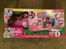 Barbie Dream Plane Playset 15 Pcs Bonus Rolling Wheels Snack Cart Compartments