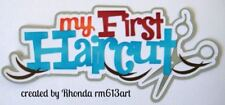 FIRST HAIRCUT BOY play title paper piecing Premade Scrapbook Pages by Rhonda