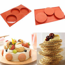 3-Cavity Silicone Cake Pie Custard Tart Resin Mold Bakeware Coaster Tray Mould