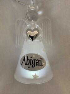 Personalised Light Up/Flashing Angel Bauble Christmas Tree Decoration Any Name