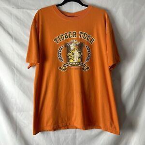 Vintage Disney Store Tigger Tech Winnie The Pooh T Shirt Size XL Orange