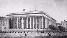 PARIS - LA BOURSE (PALAIS BRONGNIART) - Gravure du 19e siècle