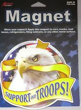 New Support Our Troops Eagle Vehicle Magnet All Metal Surfaces