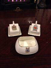 Three Vintage Pieces Of Crested Ware - Torquay, Wrexham And Crewkerne