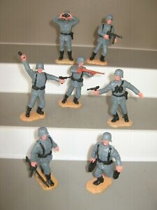Timpo Germans 3rd series 7 in all 7 poses Exc/cond on sand ground bases.