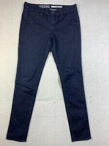 DKNY Jeans Womens 4 Legging Blue Dark Wash Skinny Stretch Denim