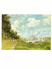 """1977 Vintage IMPRESSIONISM """"THE BASIN AT ARGENTEUIL"""" by MONET COLOR Lithograph"""