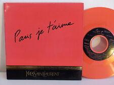 Disque PUB YVES SAINT LAURENT Paris je t aime MLGO80