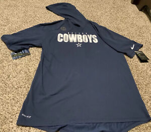 Nike Men's Dallas Cowboys S/S Player Hoodie Tee Size: Large NWT 2020 Navy Blue
