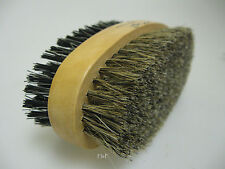Gents Boar Bristle Twin Sided Hair & Beard Grooming Brush - Hard & Soft Bristles