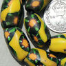 15 old antique venetian oval millefiori african trade beads #834