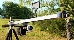 Camera Slider 150 cm long for CANON NIKON SONY JVC PANASONIC BMC 4k etc ***UK***