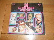 20 All Time Greats Of The 50's - 1970s UK 20-track compilation LP