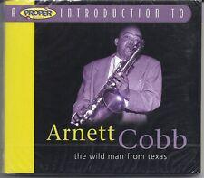 "ARNETT COBB ""The Wild Man from Texas"" UK 2004 Proper Intro-CD-2070 NEW/SEALED"