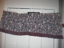 "Curtain Or Valance, Floral Print, Pinch Pleats, 112"" Wide X 15-24"" Long"